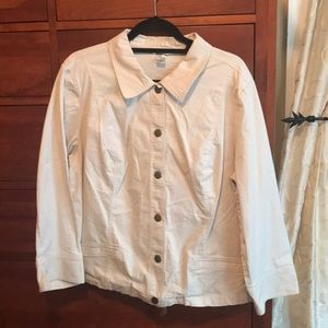 CJ Banks 1X tan lightweight jacket/blazer
